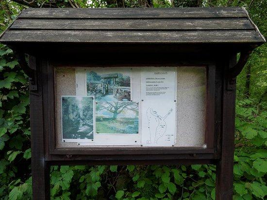 Fairy Glen : Sign by the car park