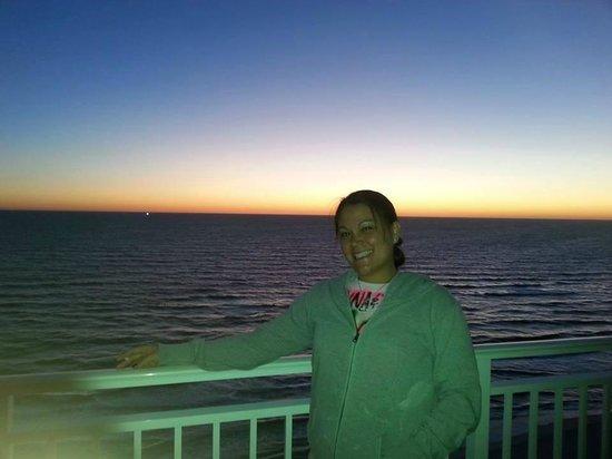 Wyndham Vacation Resorts Panama City Beach : Sunset view from balcony