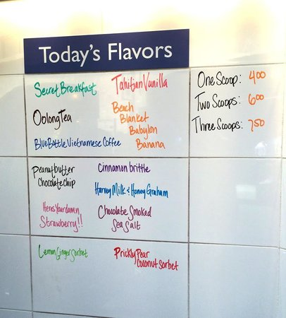 Humphry Slocombe: Menu posted on two visits in early June 2014