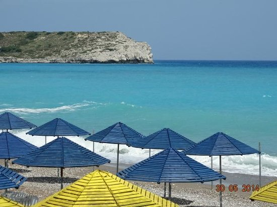 Kolymbia Beach Hotel : пляж