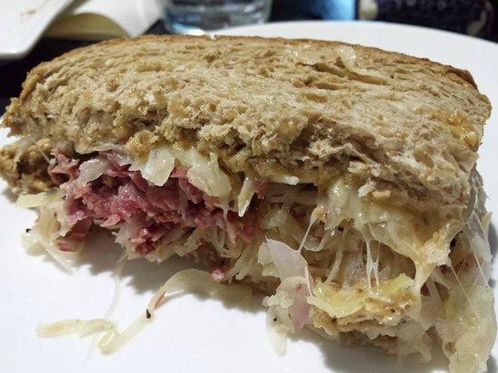 Nassim Hill Bakery: corn beef hot reuben sandwich