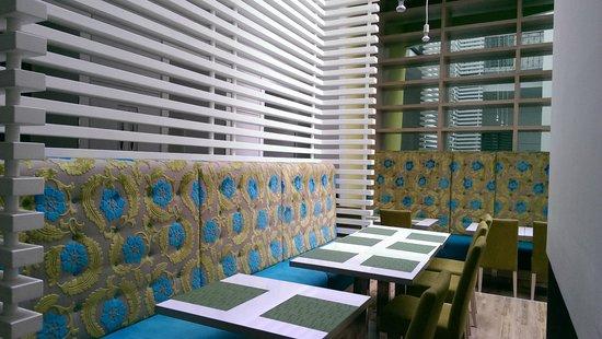 Atrium Fashion Hotel: Salle de petits déjeuners