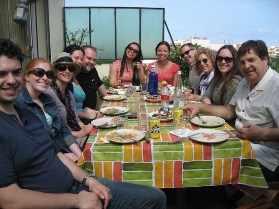 Marta's Private Paella Cooking Classes: Enjoying Lunch!