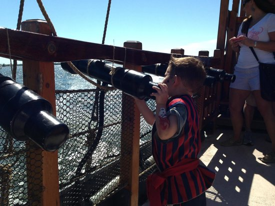 Pirate Adventures on the Chesapeake: Firing the cannons!