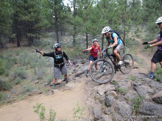 Cog Wild Mountain Bike Tours: being coached on the trail
