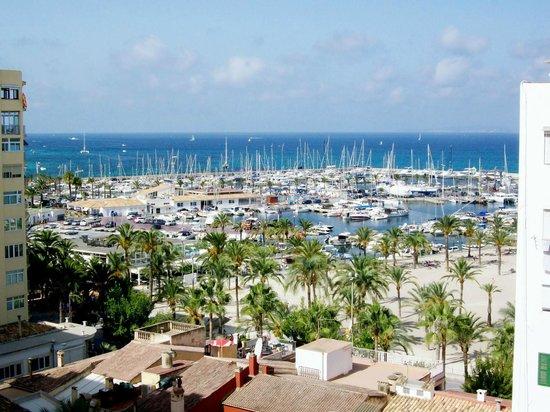 Hotel Gracia: vista dalla camera, porto/spiaggia el arenal