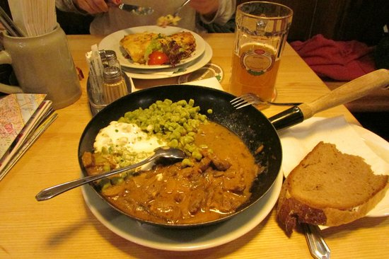 Salm Bräu: My meal
