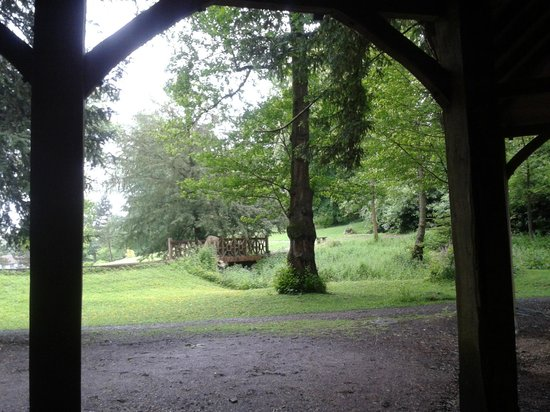 Ightham Mote: View from open fronted barn (where we had our picnic!)