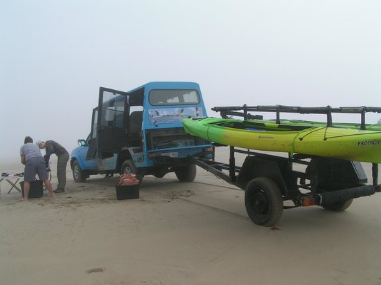 Eco Marine Kayak Tours: Preparing for take-off on the beach