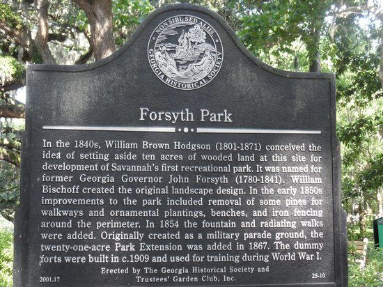Parc Forsyth : Forsyth Park explanation