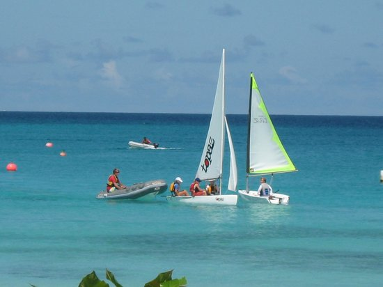 LRN 2 Sail Barbados: On the water support