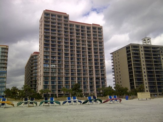 Beach Colony Resort from the beach looking west