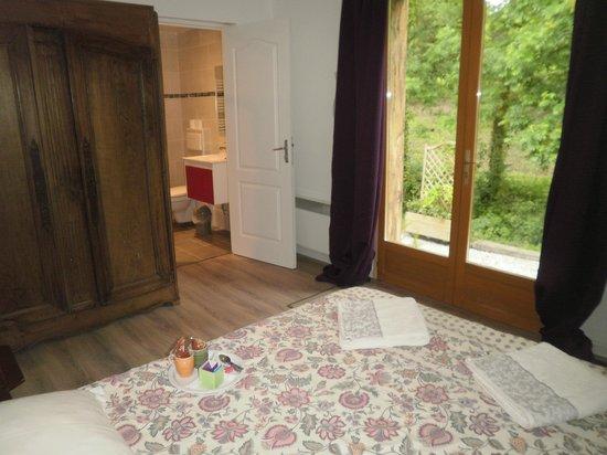 Ecluse de Kerdelen : les chambres ont une salle de bain privative