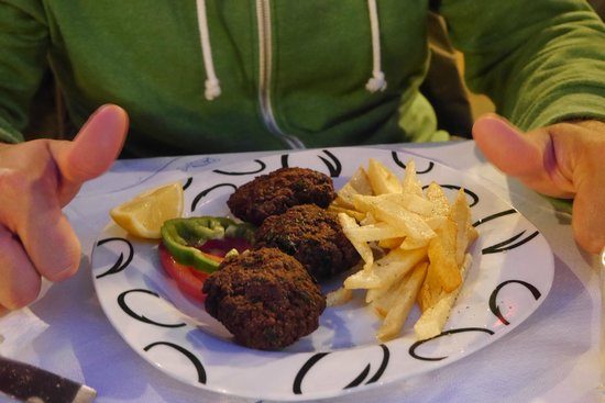 Santorini Mou: Fried Meatballs with fries
