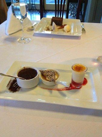 Ballynahinch Castle Hotel: fabulous dessert-triple creme brulee