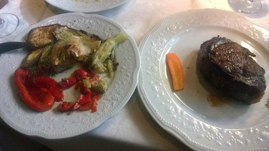 Alcorta carnes y vino: 450g of Bife.