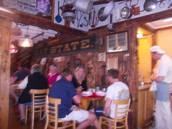 The Lobster Shack at Two Lights : Inside the Lobster Shack.