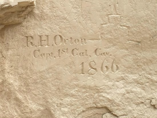 El Morro National Monument: Inscription on the wall
