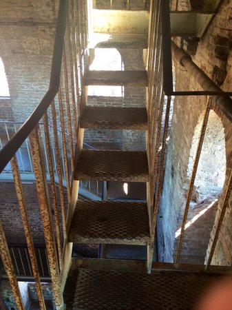 Last Section Metal Steps Narrow One Person Width Picture Of