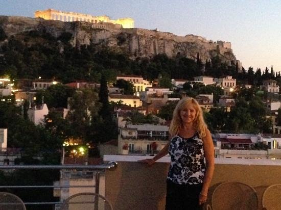 Plaka Hotel: on the Rooftop Deck