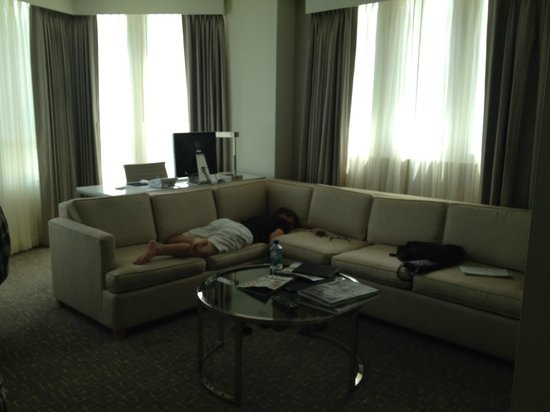 Fontainebleau Miami Beach: Living area of our room