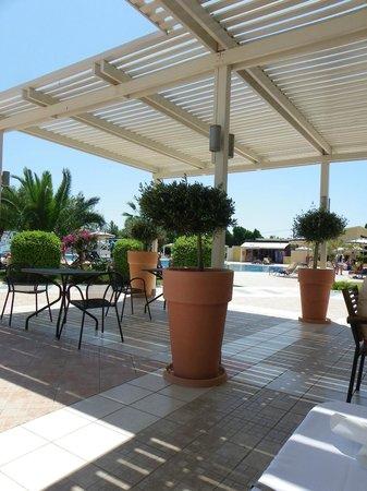 Electra Palace Rhodes : Terrasse ital. Restaurant