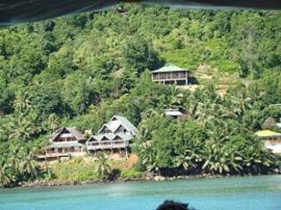 Colibri Guest House : Vue depuis le Ferry vers La Digue