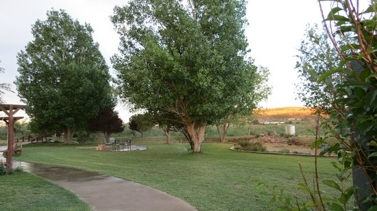 Davis Mountains Inn: back yard