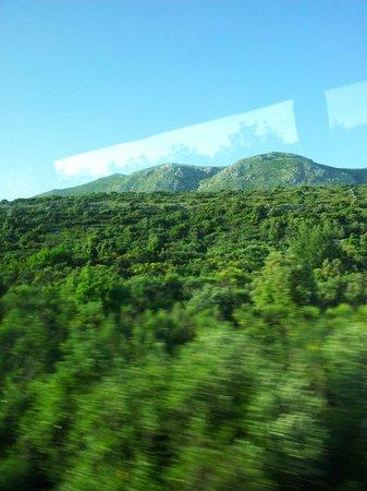 Hotel Nimfa: Les montagnes vue du bus