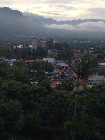 Posada Del Tepozteco : View from the balcony towards town