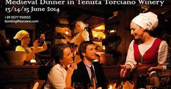Tenuta Torciano Vineyards : San Gimignano wine tasting and medieval dinner