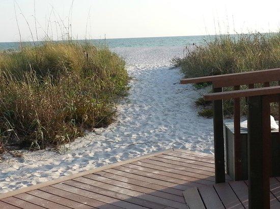 Sirata Beach Resort: one of the beach pathways