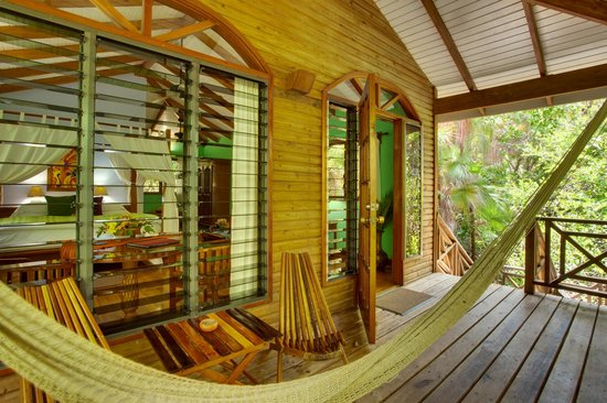 Hamanasi Adventure and Dive Resort: Hamanasi Treehouse porch