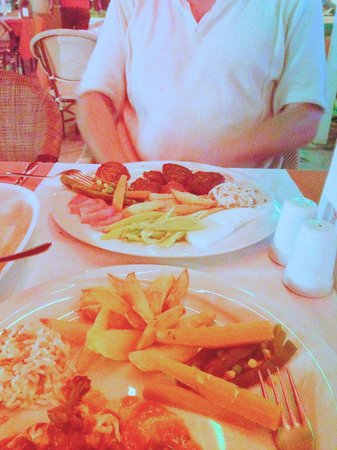 Welcome Inn Restaurant: Kebab and fresh salad