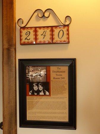 La Posada Hotel: La Posada Doublemint Twins Room 240 Door Sign