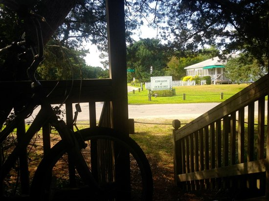 Edwards of Ocracoke: View from the bungalow rooms porch (outside Room 10)