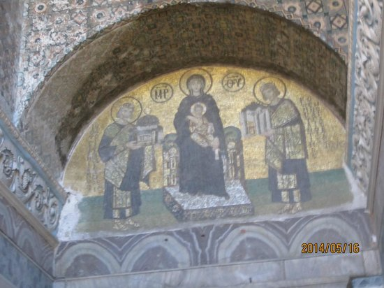 Historic Areas of Istanbul: Mosaic in Hagia Sophia