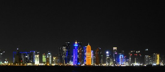 From the Corniche - CBD night view