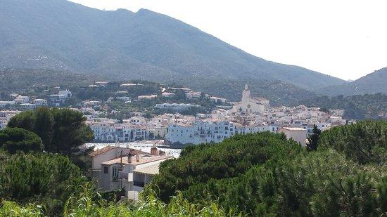 Hotel Blaumar Cadaques : Vista de la piscina desde la habitación