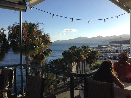 El Cangrejo Rojo: View from our table