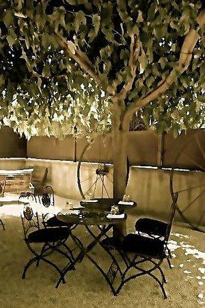 Barndiva: Art shot of rear garden seating