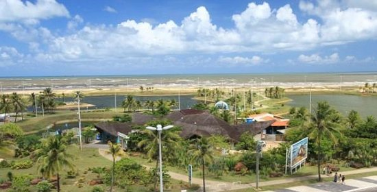 Aracaju Aquarium - Tamar : Vista do Oceanário pelo Real Praia Hotel