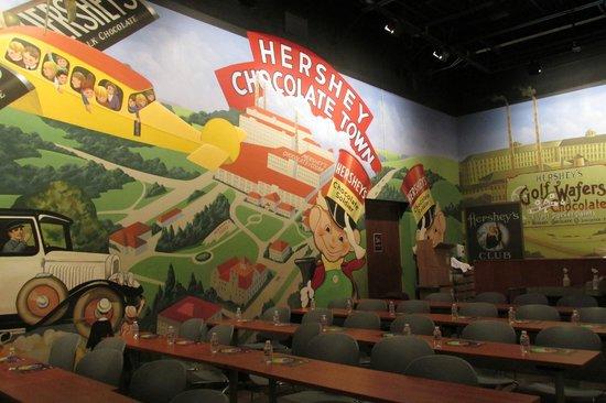 Hershey's Chocolate World: the chocolate tasting room