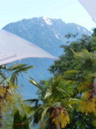 Casino de Montreux : Vue sur le Grammont de la terrasse du Saxo Bar