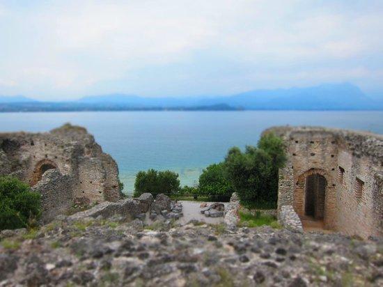 Grotte di Catullo : View of Lake Garda from Grotto