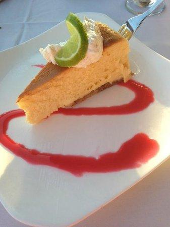 Beach Walk at Henderson Park Inn: Key Lime Pie cheesecake