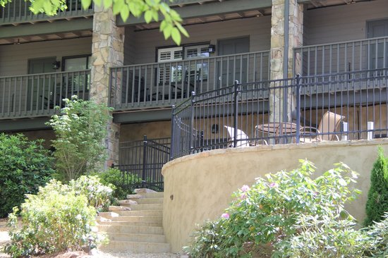 200 Main by Old Edwards: Staircase on the back of the terrace