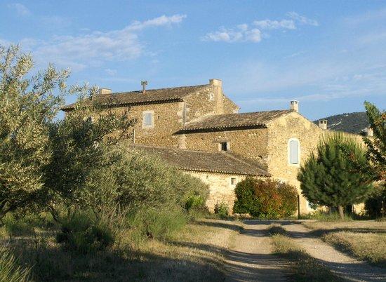 Les Artisanales en Provence : L'arrière de la maison à travers les cerisiers, hummm !