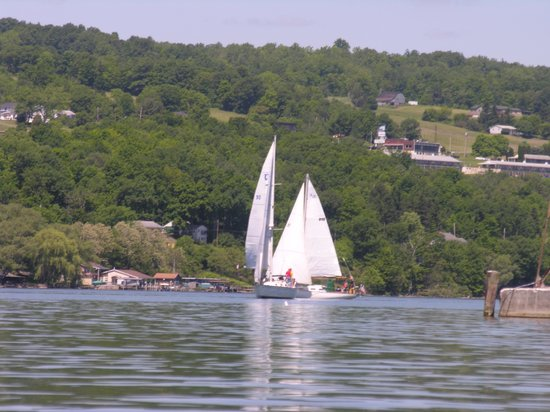 Village Marina Bar & Grill: Sail boats on Seneca Lake
