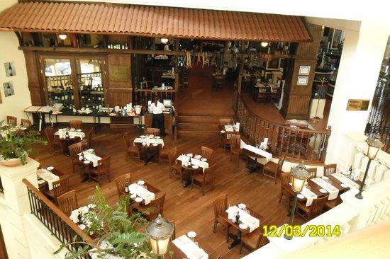Hilton Malta: restaurant view from 4th floor
